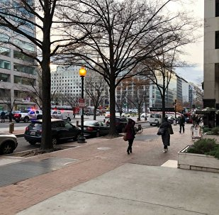 Police have blocked 16th St NW in Washington DC due to a bomb threat