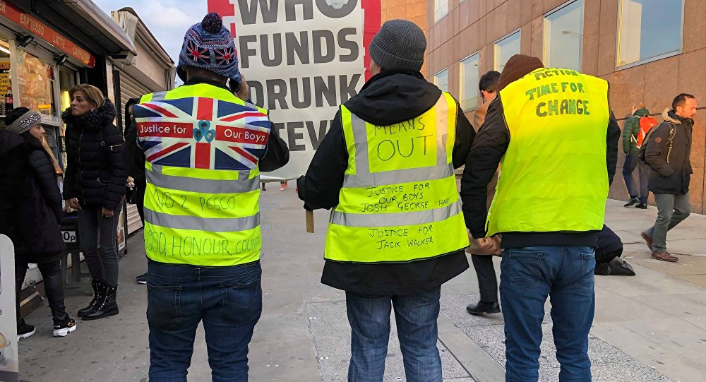 'Yellow Vests' protesters in London