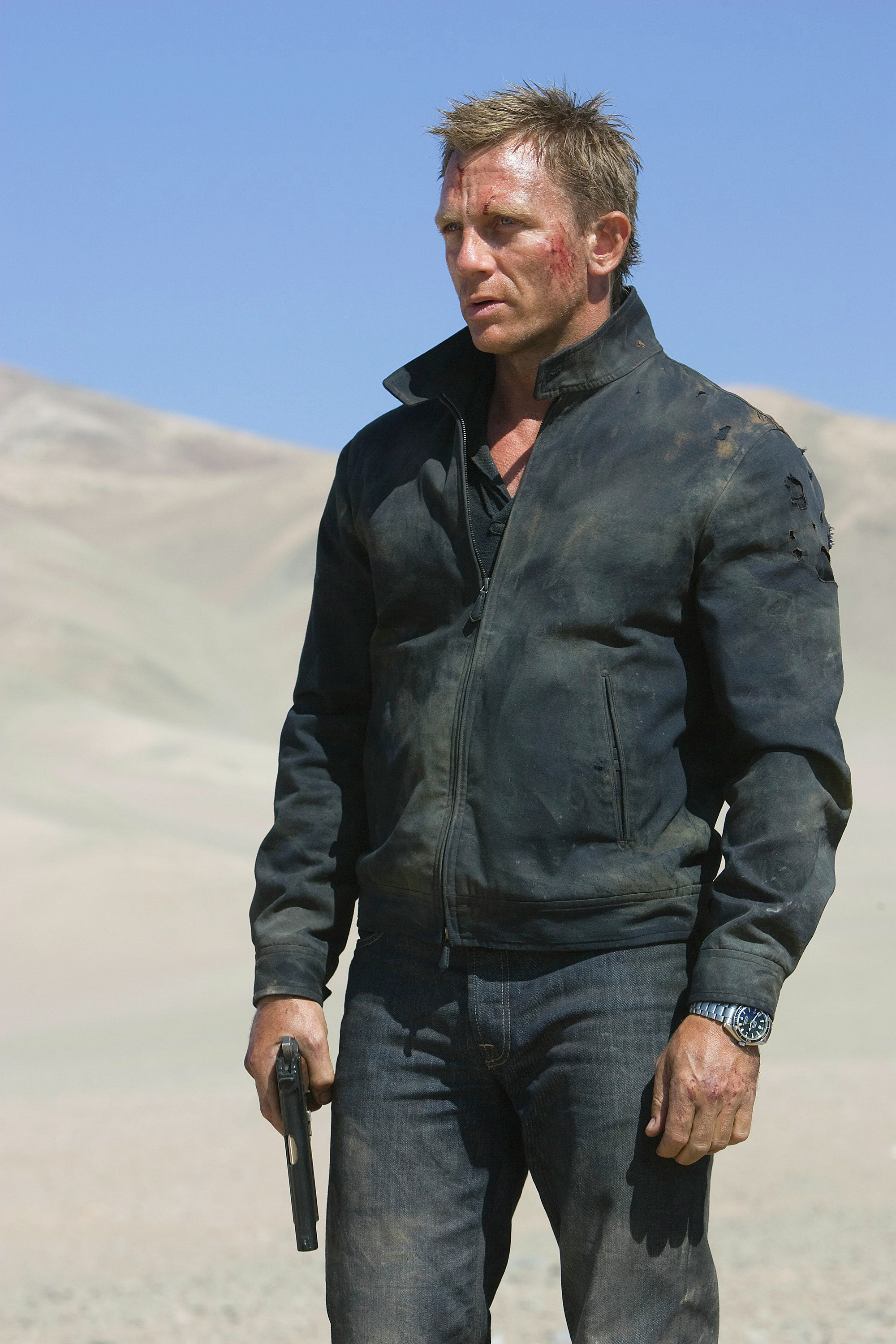 In this file image released by Sony Pictures, Daniel Craig stars as James Bond 007 in a scene from Quantum of Solace.
