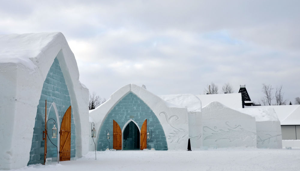 l'Hotel of Ice in Quebec, Canada
