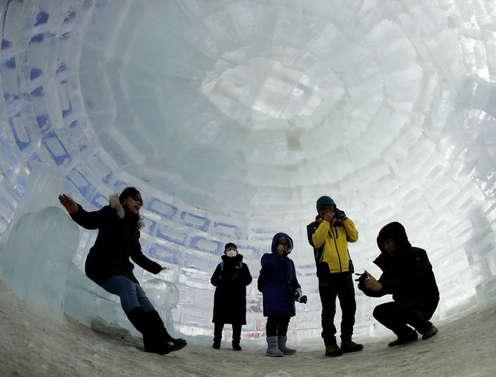 Giant igloo in Pyeongchang, South Korea