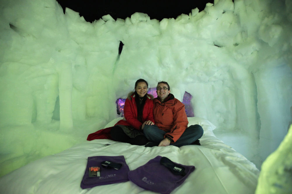 First Dutch ice hotel in the city of Zwolle
