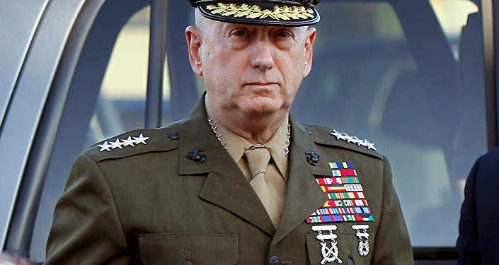 Marine Corps four-star general James Mattis arrives to address at the pre-trial hearing of Marine Corps Sgt. Frank D. Wuterich at Camp Pendleton, California March 22, 2010