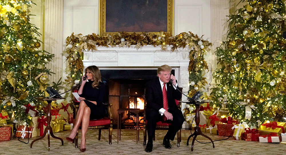 Prez Donald Trump 'all alone' on Christmas
