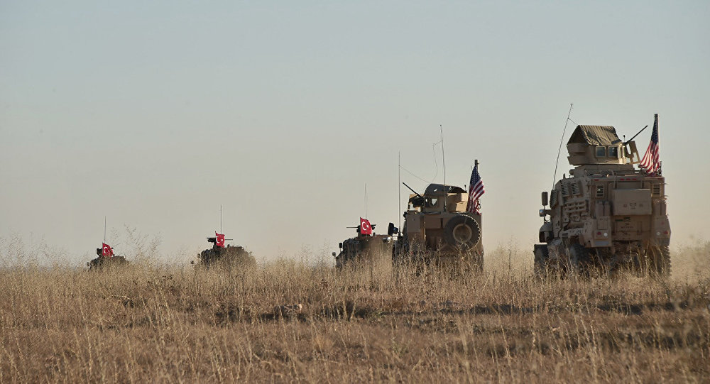 Nov. 1, 2018, Turkish and U.S. troops conduct joint patrols around the Syrian town of Manbij, as part of an agreement that aimed to ease tensions between the two NATO allies