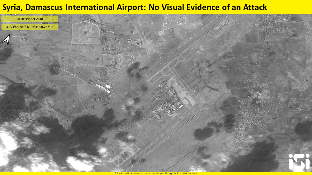 Satellite photos released by Israeli firm ImageSat International on December 27, 2018