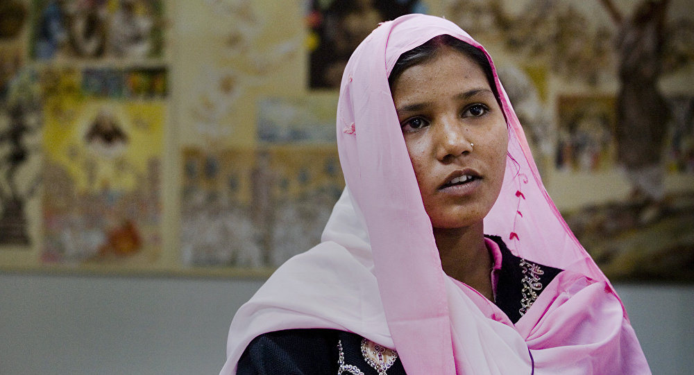 Sidra Shahzadi, daughter of Christian woman Asia Bibi who had been sentenced to death, talks to The Associated Press after meeting with Pakistani minister for Minority Affairs in Islamabad, Pakistan on Wednesday, Nov. 24, 2010.