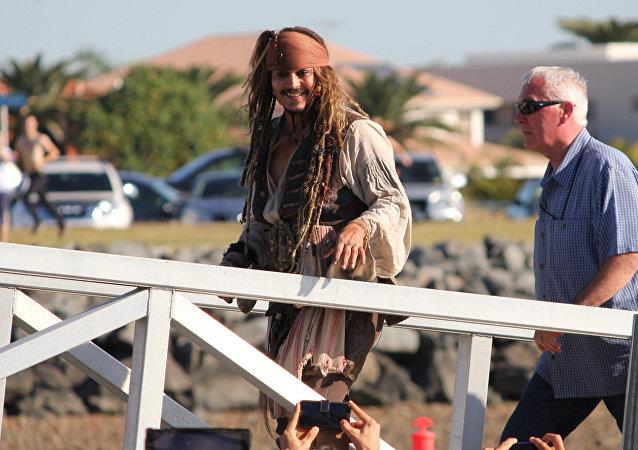 Johnny Depp in Queensland, Australia