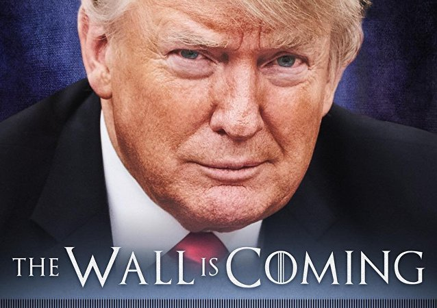 Donald Trump's Game of Thrones-style border wall poster