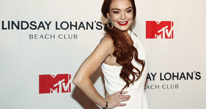 Lindsay Lohan attends MTV's Lindsay Lohan's Beach Club series premiere party at Magic Hour Rooftop at The Moxy Times Square on Monday, Jan. 7, 2019, in New York