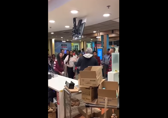 McDonald's restaurant in Moreno Valley, California, gets torn apart following confrontation between customers over the eatery's play area.