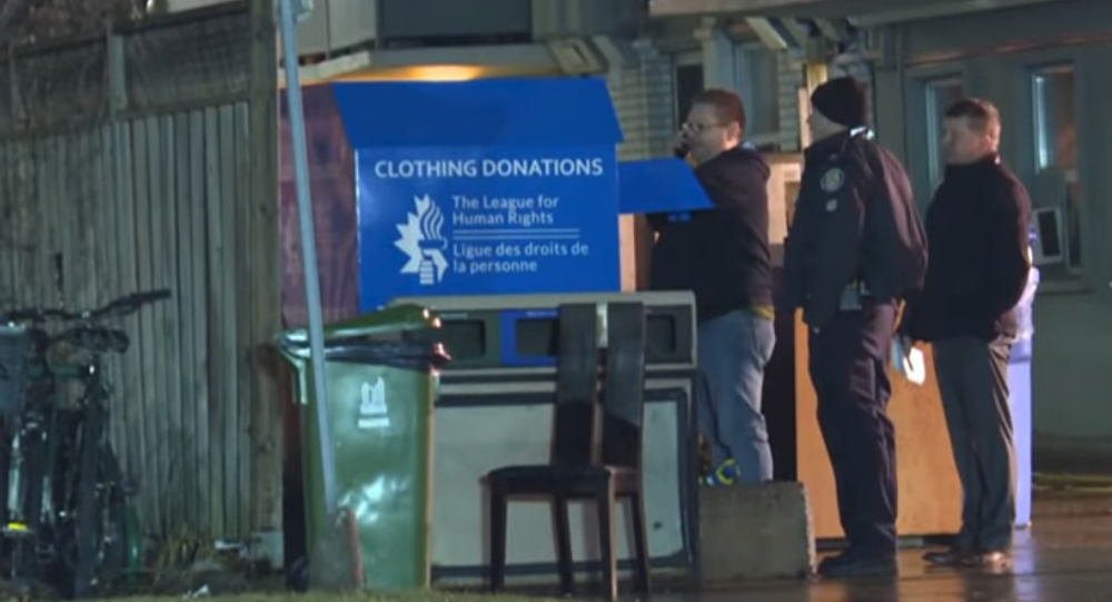 Canadian woman dies after getting partially trapped inside of a Toronto clothing donation bin