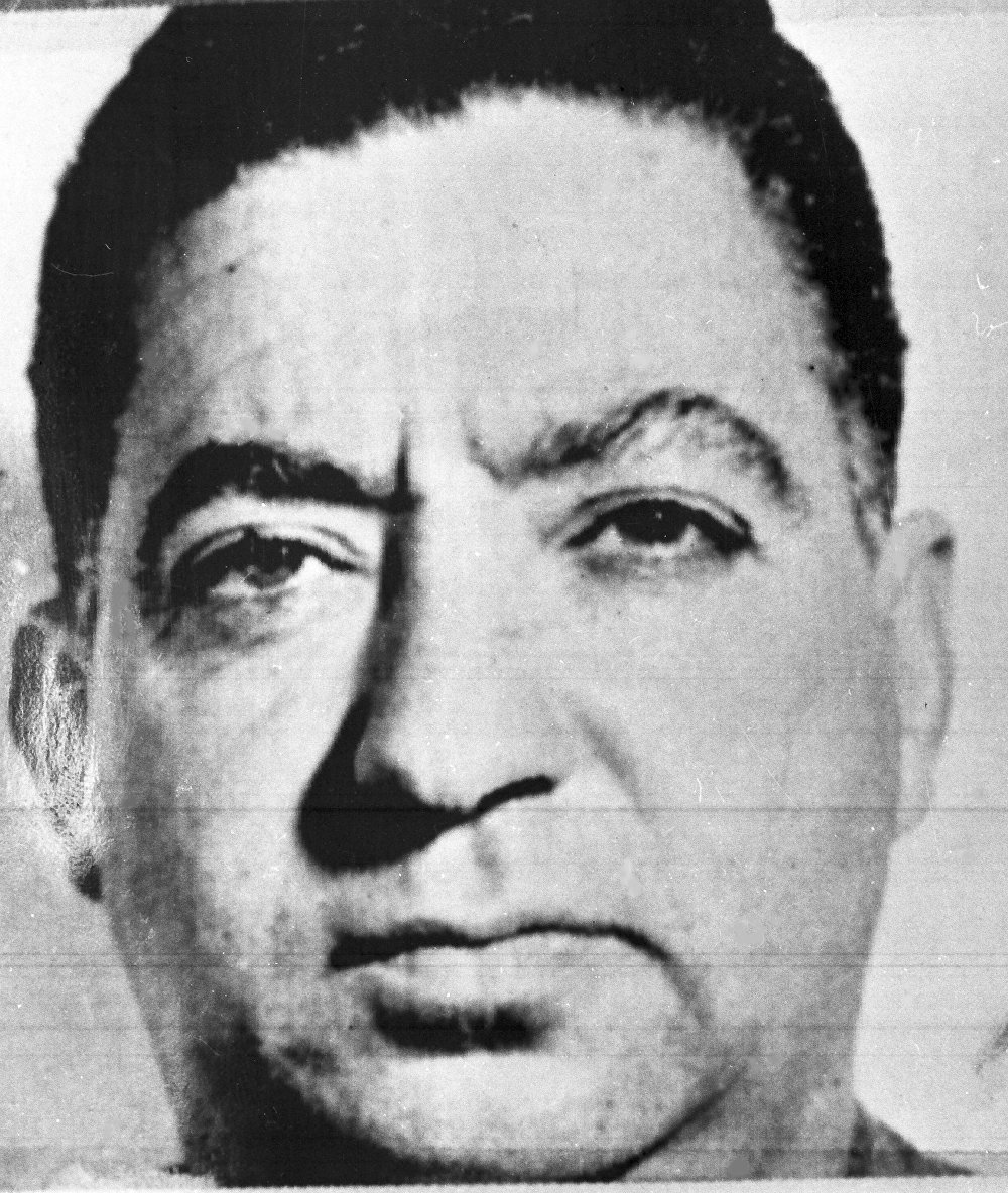 Dimitri Tsafendas (pictured) stabbed Verwoerd in the South African parliament, where he had obtained a clerical job