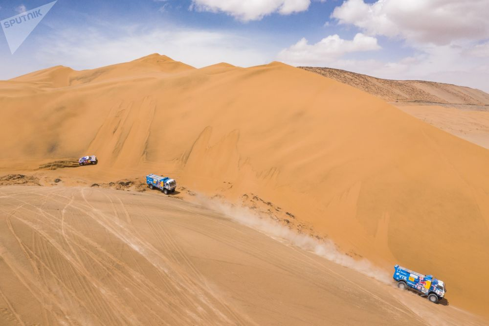 Photos of the KAMAZ Master team during the fifth stage of the Dakar 2019 Rally