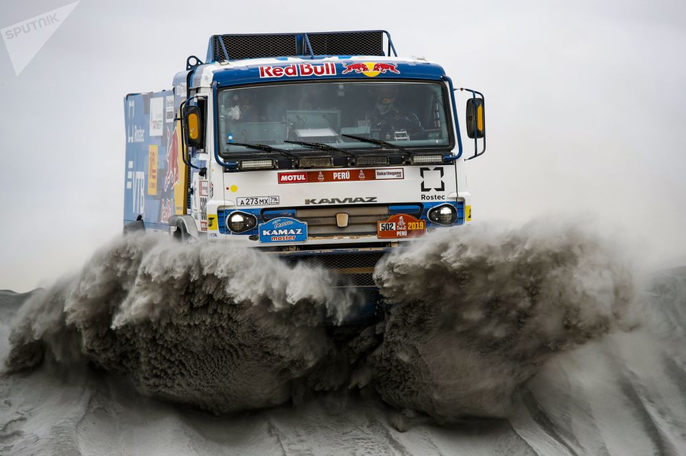 Photos of the KAMAZ Master team during the fourth stage of the Dakar 2019 Rally