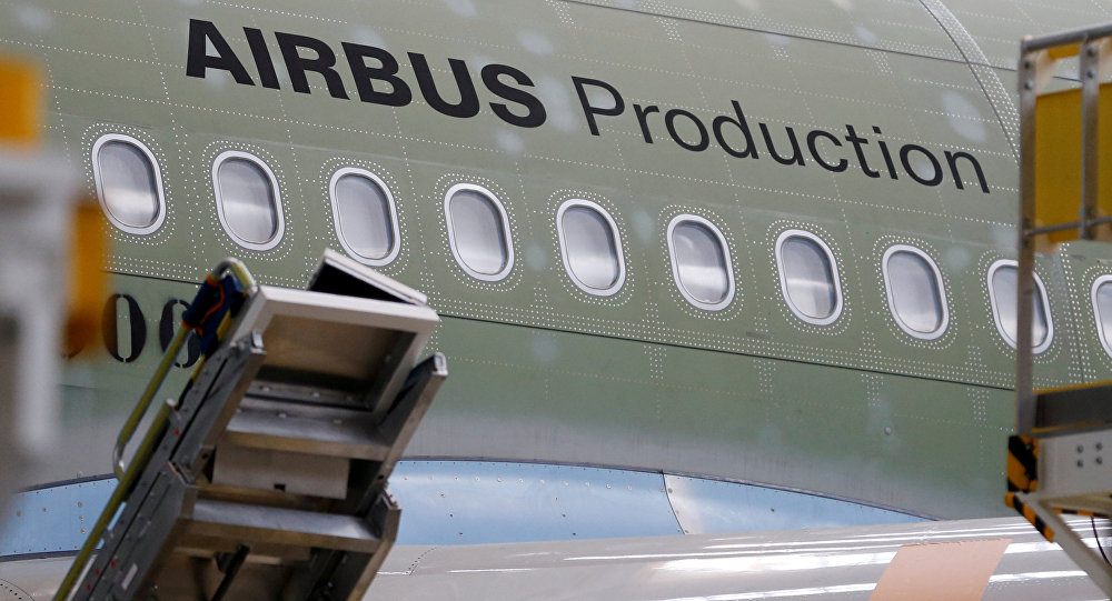 An Airbus A330neo is pictured on its final assembly line at Airbus headquarters in Colomiers, near Toulouse, France, November 26, 2018