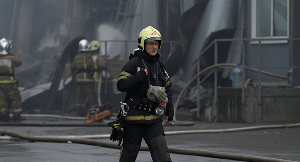 Firefighters in Saint Petersburg, Russia (File photo)