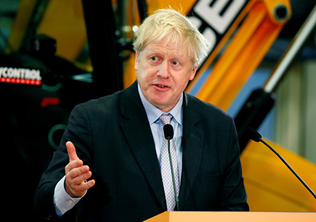 Former British Foreign Secretary Boris Johnson gives a speech at the JCB Headquarters in Rocester, Staffordshire, Britain, January 18, 2019.