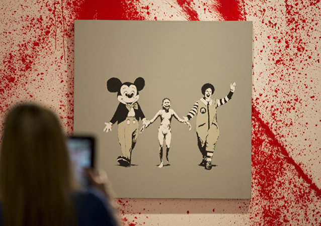 art work by British artist Banksy