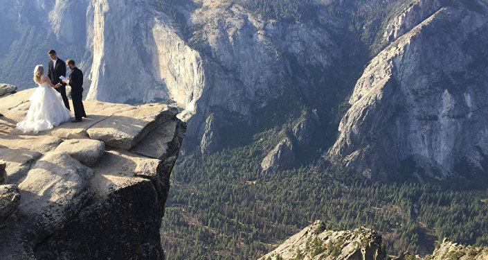 Taft Point in California's Yosemite National Park