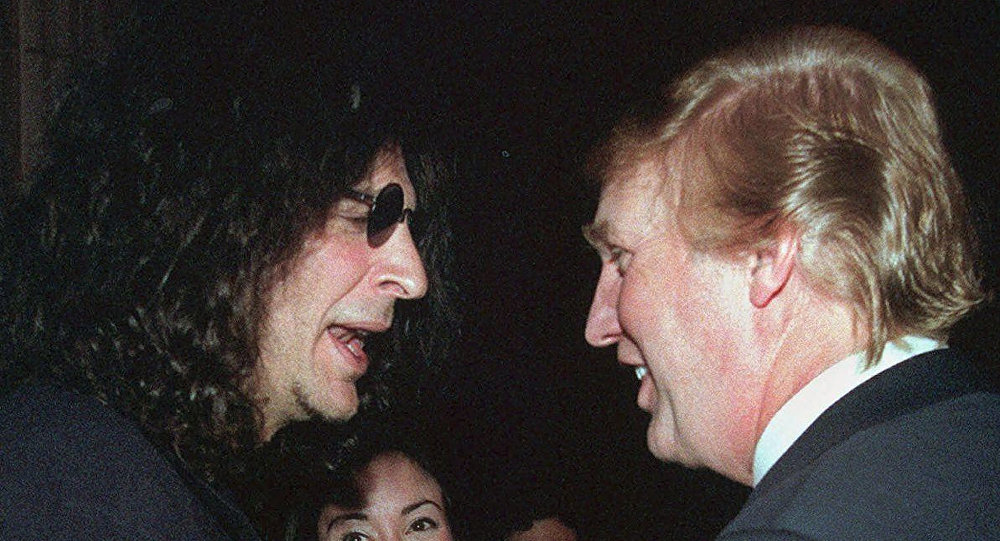 Popular media personality Howard Stern and longtime media pal Donald Trump in happier days