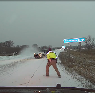 Slow Down, Stay Alert: Motorist Loses Control, Almost Floors US Deputy