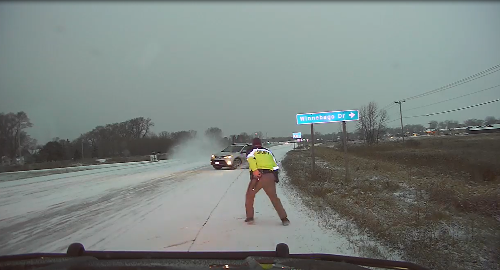 Slow Down, Stay Alert: Motorist Loses Control, Almost Floors US Deputy