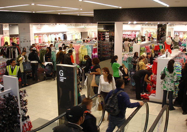 Shoppers in Primark