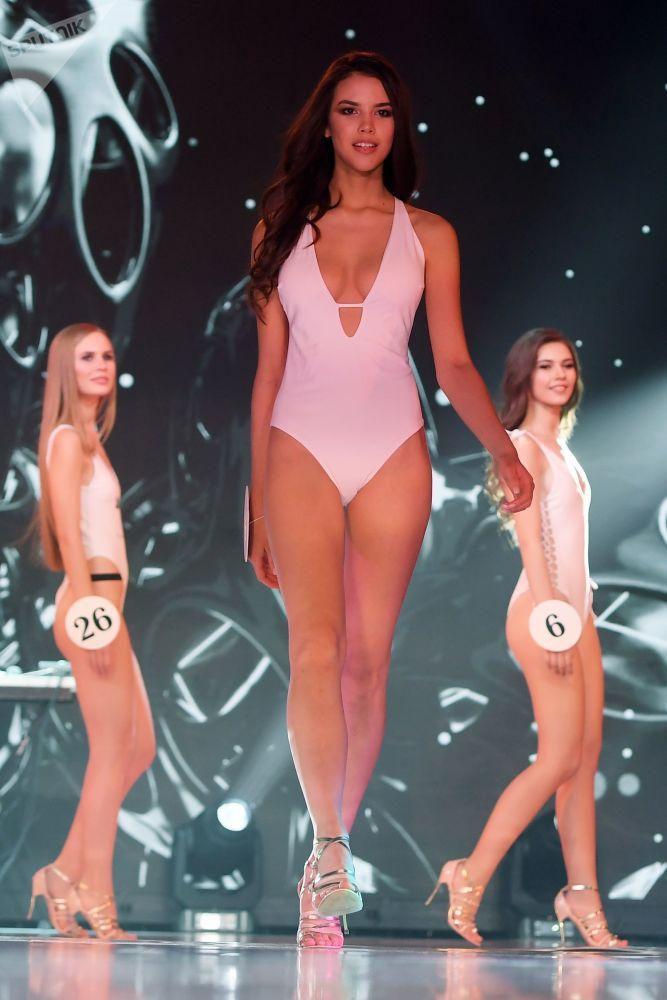 Participants of XXI Republican Beauty Contest Miss Tatarstan-2019 in Kazan