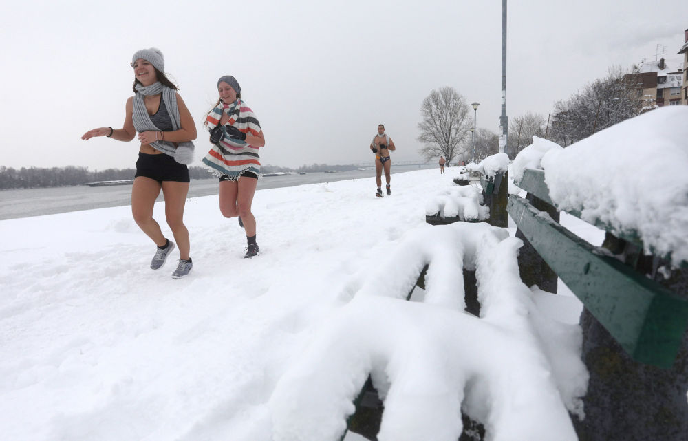 Not Your Father's Jog: Underwear Run Along the Danube in Serbia