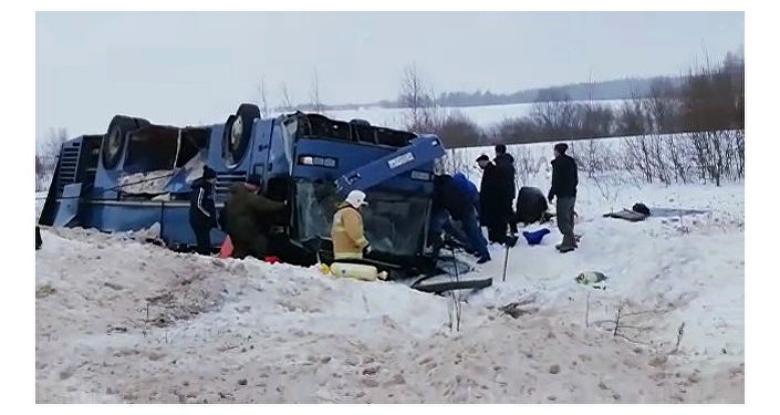 Bus With Children Capsizes in Russia: 4 Killed, 20 Injured