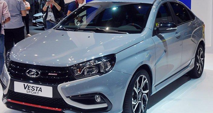 Lada Vesta Sport Concept at the Moscow International Automotive Salon 2018
