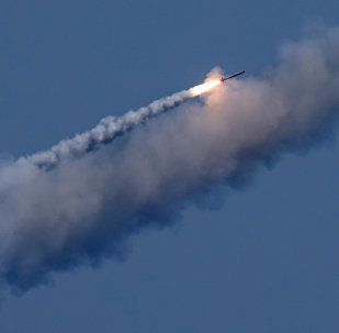 The launch of a Kalibr cruise missile. File photo