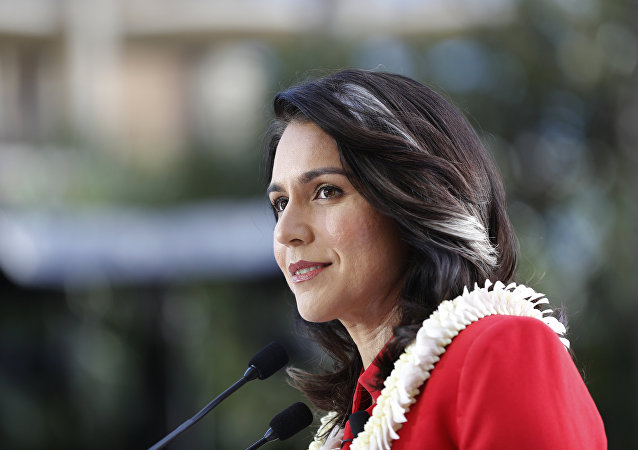 U.S. Rep. Tulsi Gabbard, D-Hawaii, formally announced her candidacy for president at a campaign rally in Waikiki, Saturday, Feb. 2, 2019, in Honolulu.