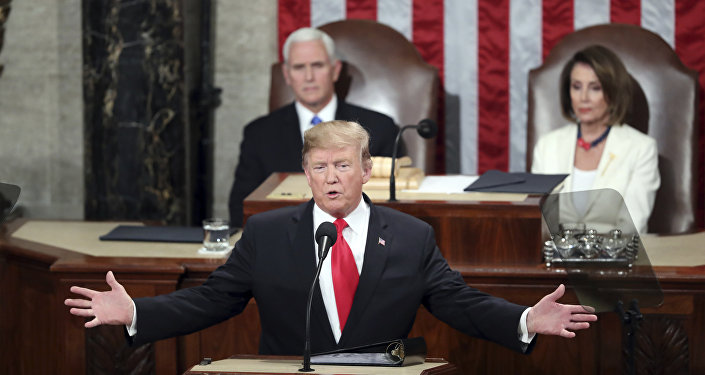President Donald Trump delivers his State of the Union address to a joint session of Congress on Capitol Hill in Washington