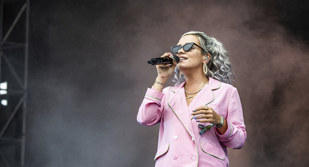 Lily Allen performs on day one of the Austin City Limits Music Festival's second weekend on Friday, Oct. 12, 2018, in Austin, Texas.
