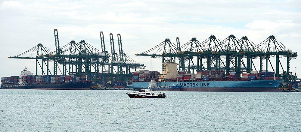 Port in Singapore