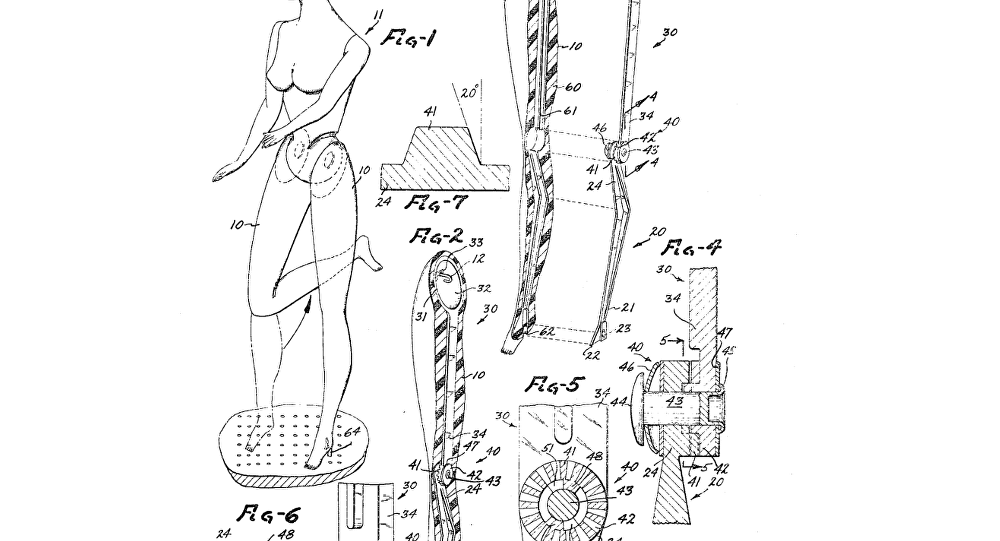 original patent submission for a Barbie doll
