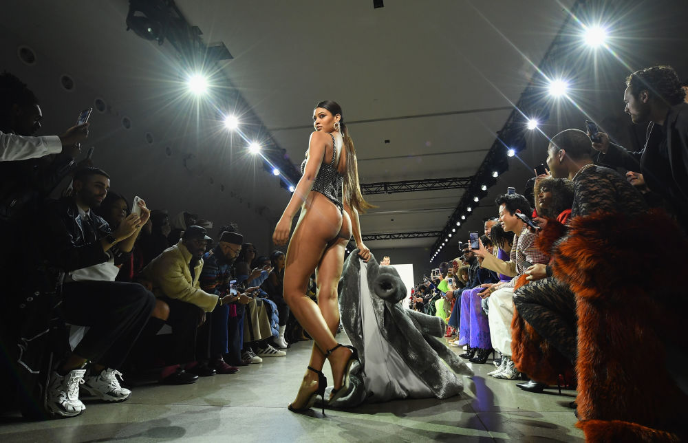 A Model At LaQuan Smith's Show During New York Fashion Week