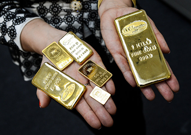 Gold bars with different weghts, in Arezzo, Italy (File)