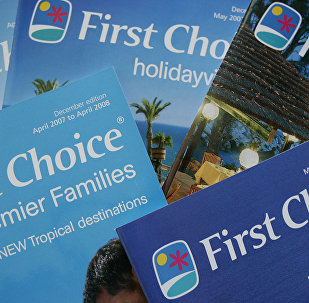 Holiday brochures for Britain's travel and tour operator First Choice in London, Monday March 19, 2007