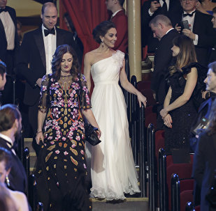 Britain's Prince William and Kate, Duchess of Cambridge arrive for the BAFTA 2019 Awards at The Royal Albert Hall in London, 10 February 2019