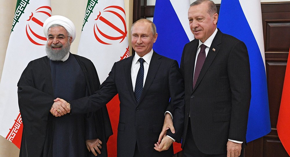 Presidents of Russia, Turkey and Iran.