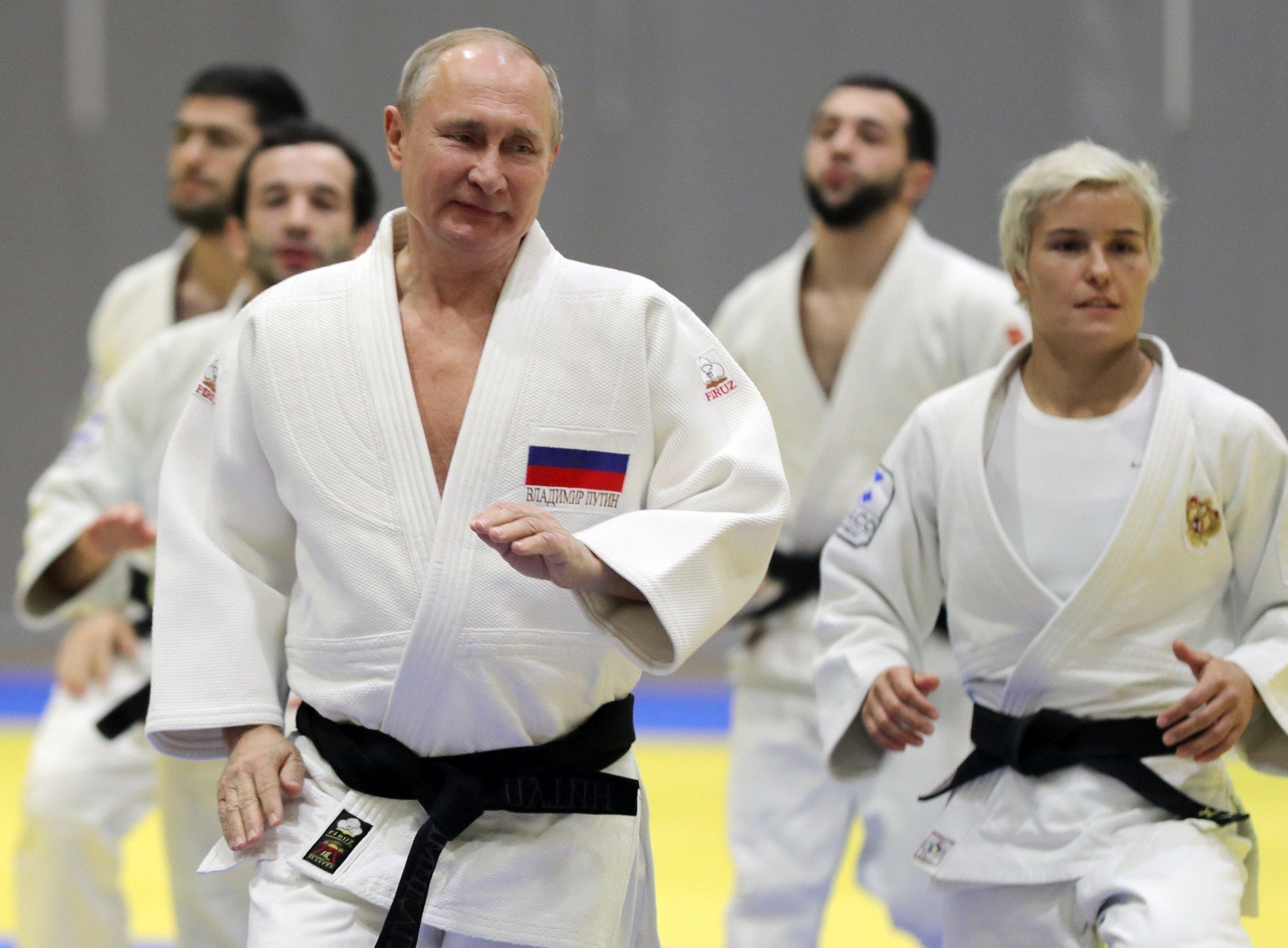 Putin's judo sparring session