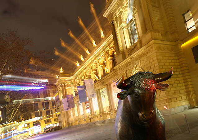 The bull, symbol for successful trading, is seen in front of the German stock exchange (Deutsche Boerse) in Frankfurt, Germany, February 12, 2019