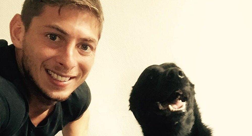 Sala with his dog