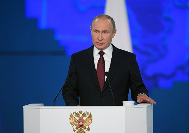 Russian President Vladimir Putin is delivering his annual Presidential Address to Federal Assembly