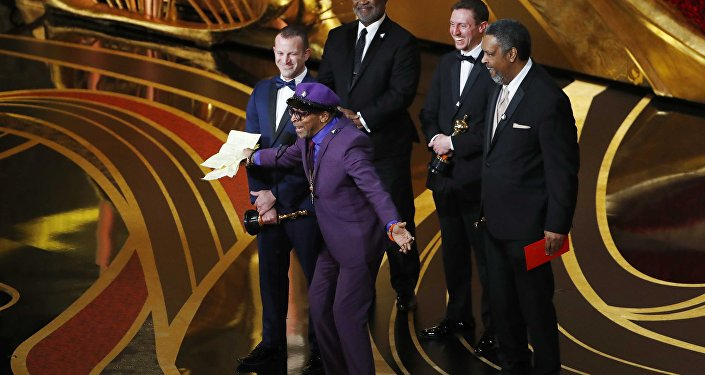 91st Academy Awards - Oscars Show - Hollywood, Los Angeles, California, U.S., February 24, 2019. Charlie Wachtel, David Robinowitz, Kevin Willmott, and Spike Lee accept the Best Adapted Screenplay award for Blackkklansman