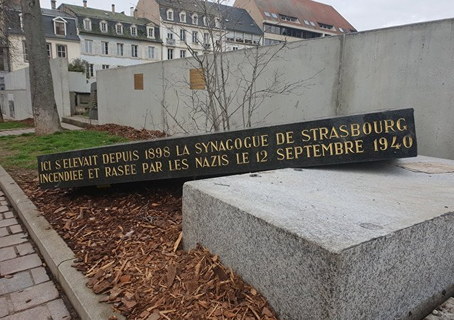 Synagogue memorial vandalised in Strasbourg