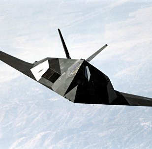 F-117 Nighthawk stealth fighter during a mission flight